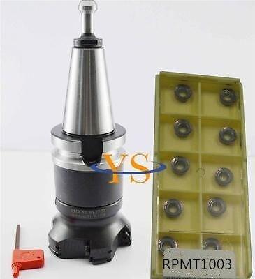 New BT40 M16 FMB27 45L EMR 5R 80 27 6T Round face end mill 10pcs RPMT1003