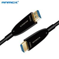 Anmck 4K 2.0 HDMI Optical Fiber Cable 10M 20M 30M 50M 60M 60Hz Fiber Optic Cables For HD TV Box PS4 Xbox Projector