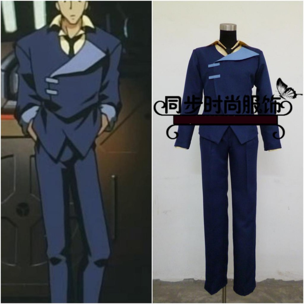 Anime Cowboy Bebop Spike Spiegel cosplay costume full set customize any sizes free shipping