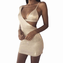 Two-piece Set Of Women High Waist Sexy Bodycon Dress One Shoulder Summer Two Piece Nightclub Party