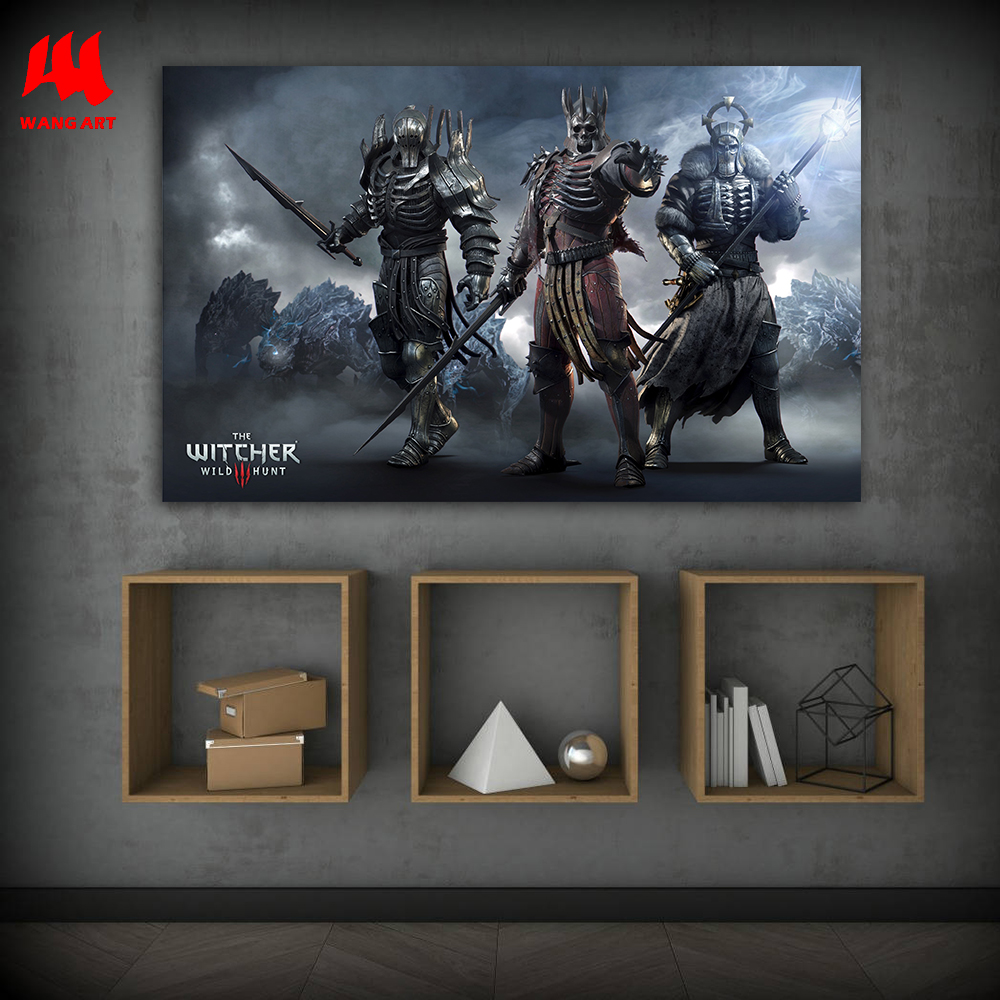 WANGART the Witcher 3 Canvas Painting Hunting Wild Game Cirilla Geralt Wall Pictures for Living Room Poster and Prints JY617-625