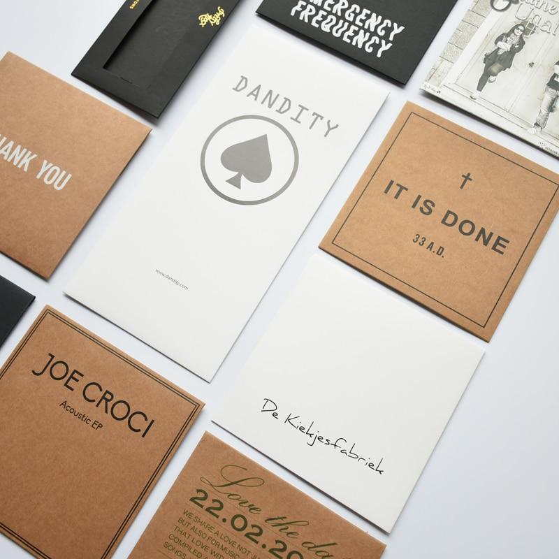 Custom Make Kraft Paper Sleeves Envelopes Logo Stamp Media CD DVD Jewelry Gift Packaging & Storage Wrapping Bags Box