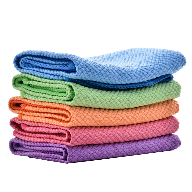 30*40cm/11.8*15.7inch Microfiber Cleaning Towel Absorbable Glass Kitchen Cleaning Cloth Wipes Table Window Car Dish Towel Rag