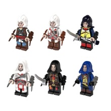 2017 HOT 6PCS suitable LegoINGlys Assassin's Creed With Weapons Action Toy Gift toys for kids