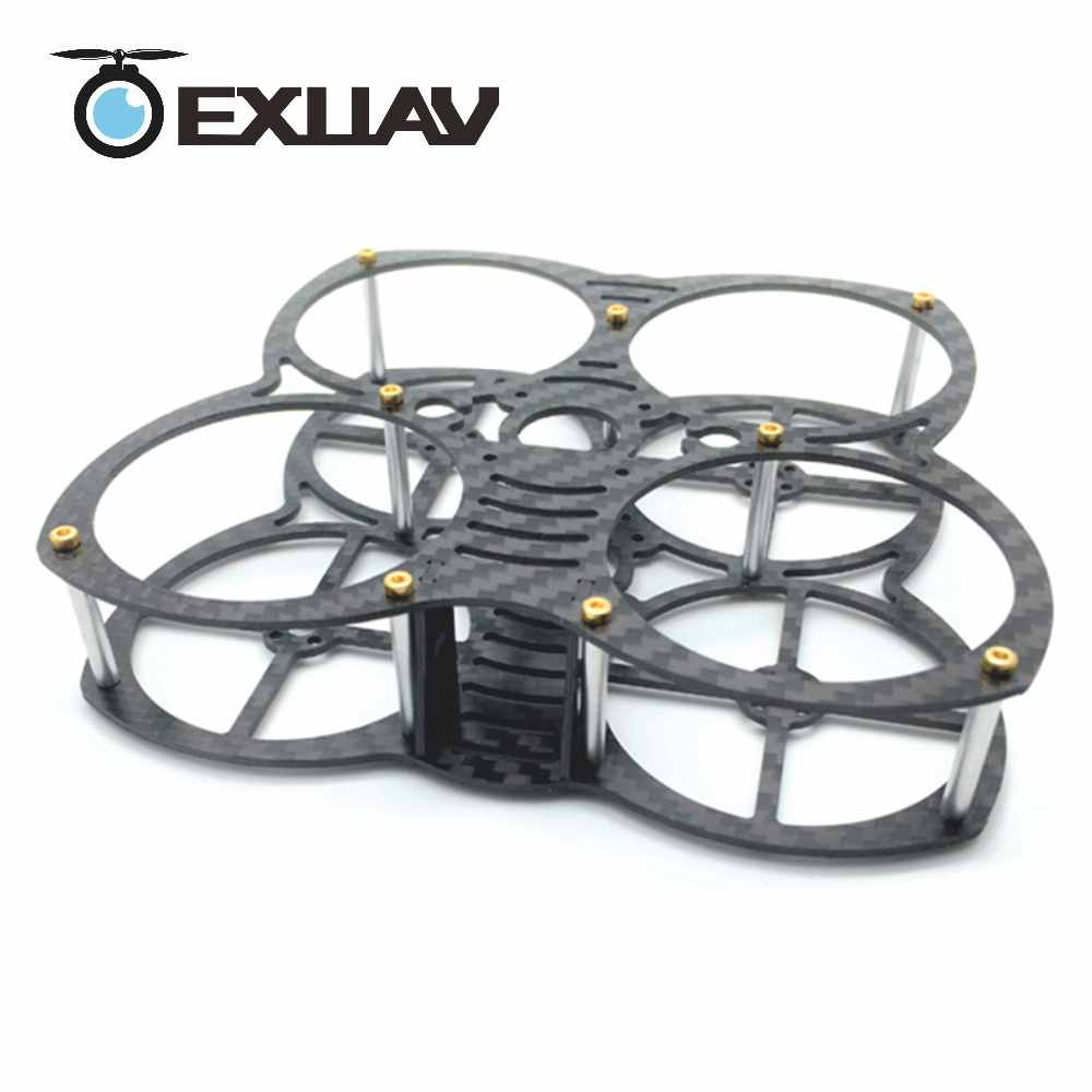 EXUAV Mini Butterfly 90mm Wheelbase 1.5mmThickness Carbon Fiber FPV Racing Drone Frame for RC Quadcopter DIY Toys exuav gep mark 1 210mm wheelbase 5inch propeller carbon fiber racing drone frame for rc fpv quadcopter support runcam camera