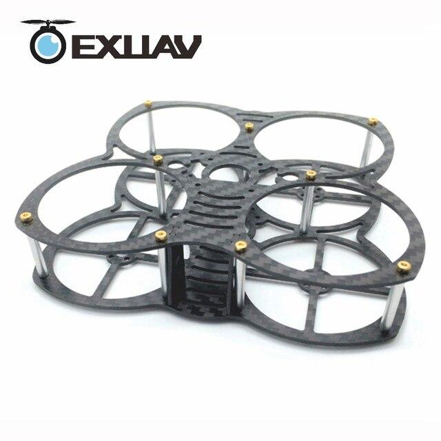 Exuav мини-бабочка 90 мм Колесная база 1.5 mmThickness углерода Волокно FPV-системы Racing Drone Рамки для RC Quadcopter DIY Игрушечные лошадки