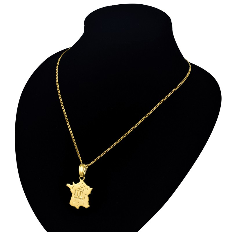 Women mens fr gold world map pendant necklace for womenmen jewelry women mens fr gold world map pendant necklace for womenmen jewelry the city of paris map pendant necklace gold color collier in pendant necklaces from gumiabroncs Image collections