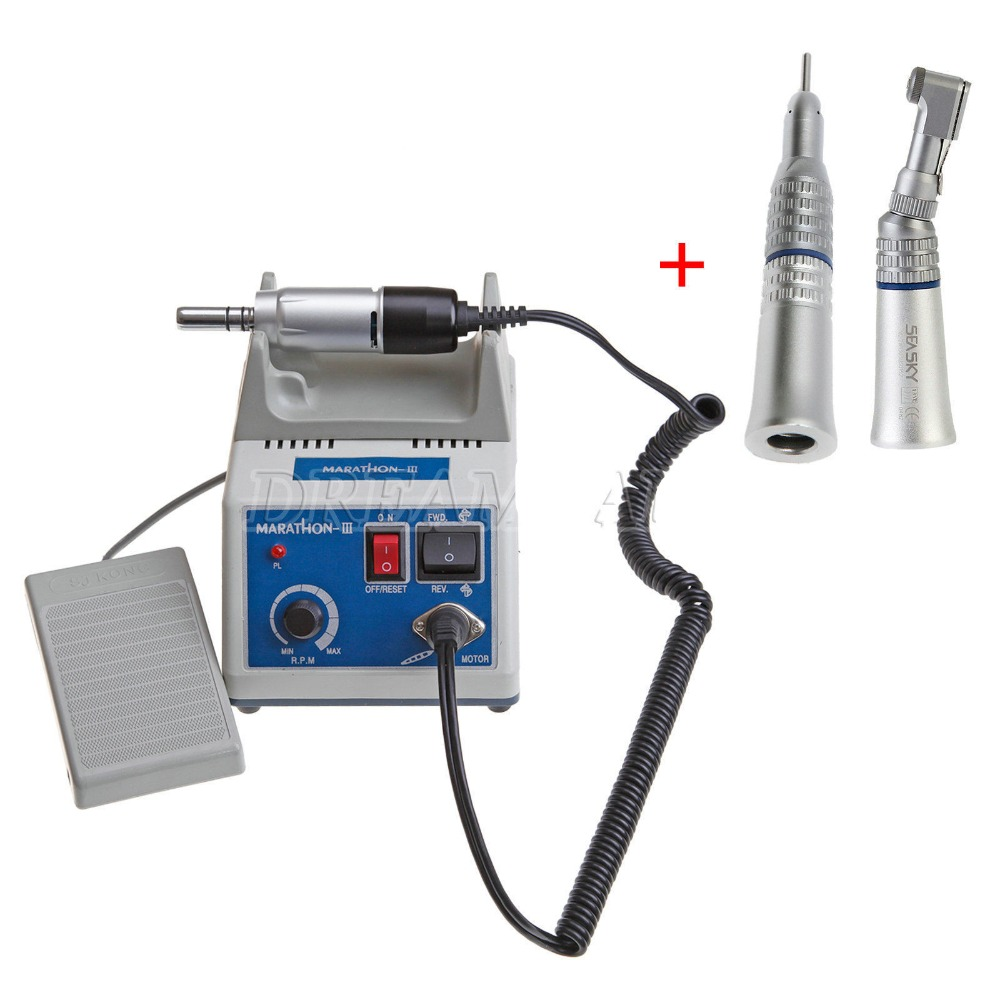 High Quality Dental Lab Marathon Electric Micro Motor Contra Angle Straight Handpiece deasin new arrival inner and outer waterway dental electric motor straight contra angle handpiece