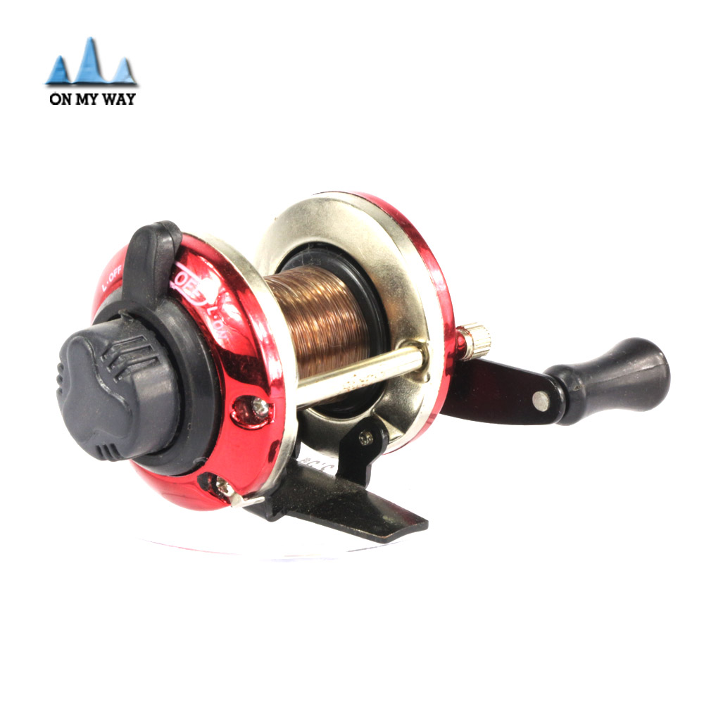 New right handed round ice fishing reel bait casting for Casting fishing reels