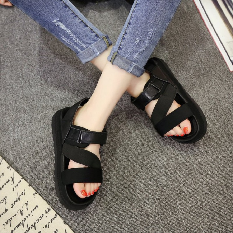 New Arrive Women Sandals Women Beach Shose Woman PU Leather flat Shoes Outdoor Ladies Summer Footwear