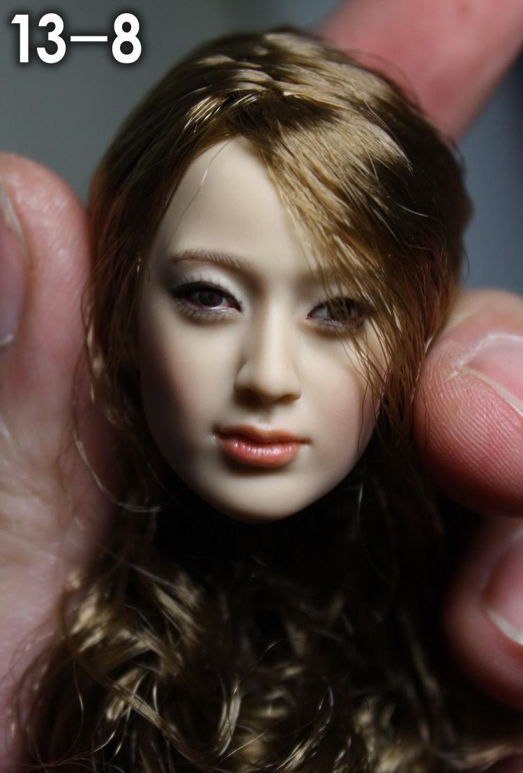 ФОТО  Head 1/6 Head Sculpt KM13-8 Female Figure Doll Head Carving Model for 12