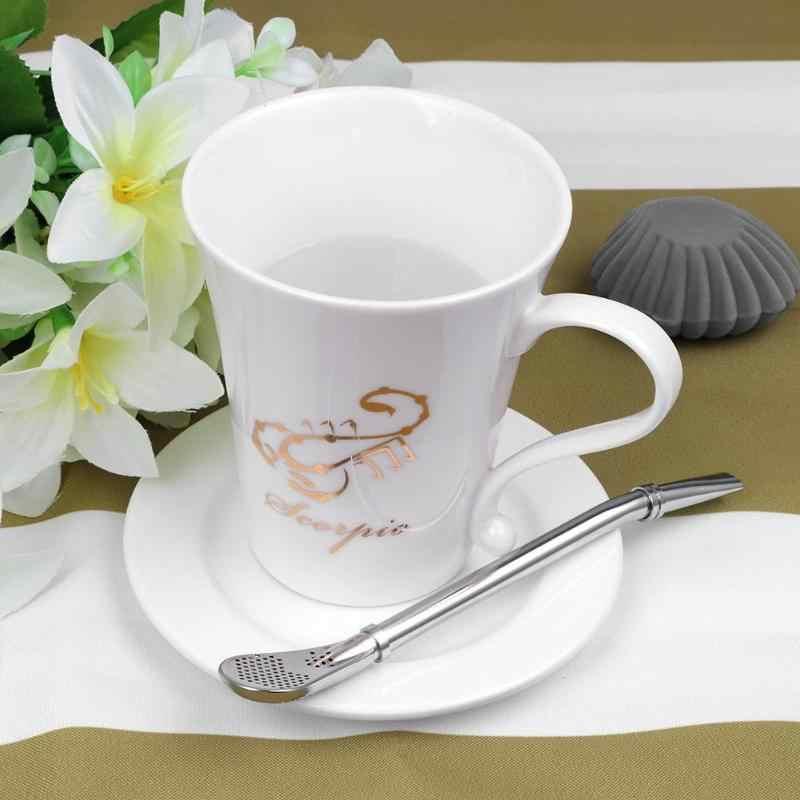 Reusable Yerba mate Bombilla Spoon Tea Filter Stainless Steel Tea Drinking Straw Gourd Practical Tea Tools Bar Accessories