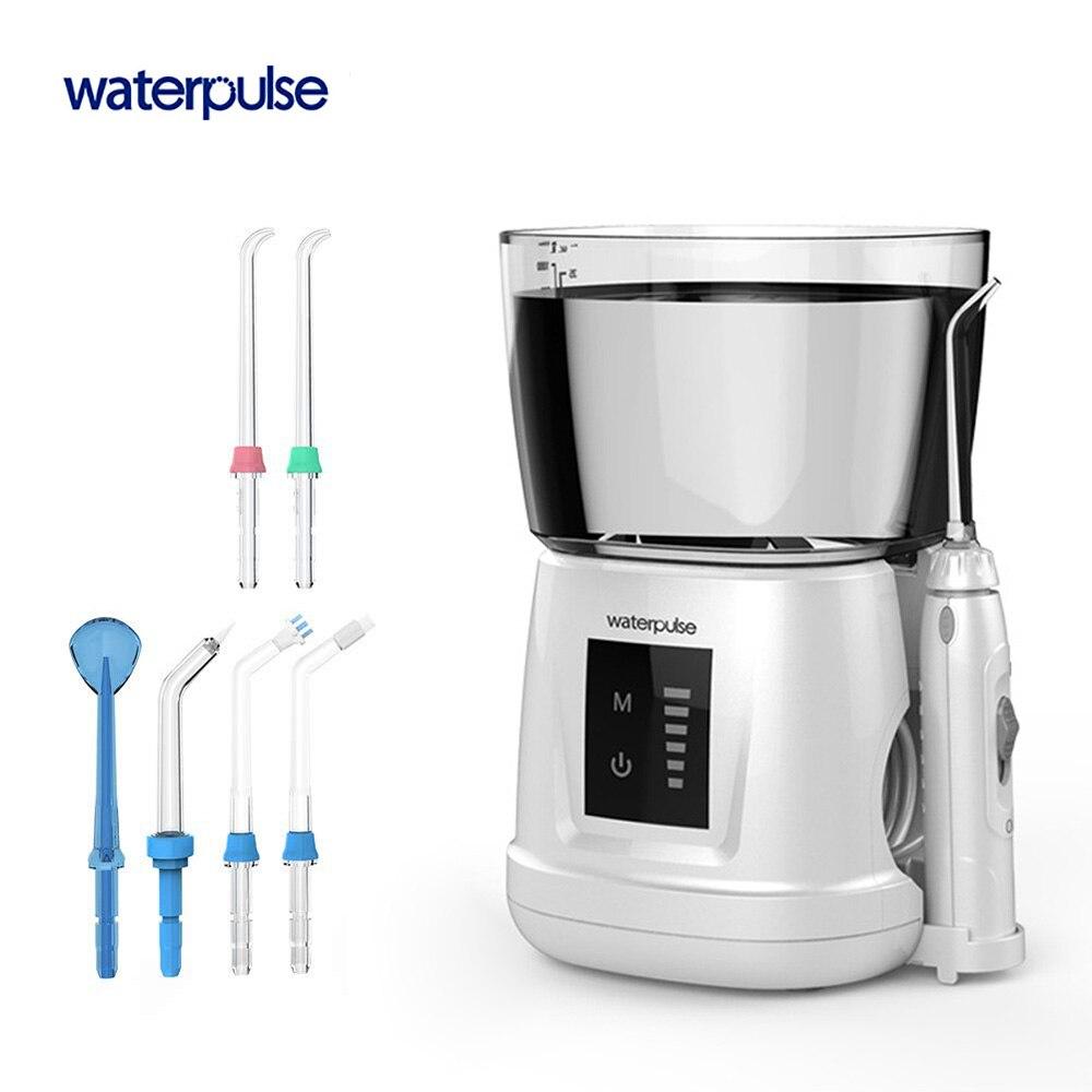Waterpulse V700PLUS Acqua Fili e cotoni per ricamo er 1000 ml Capacità Orale Irrigatore Dentale Dente Fili e cotoni per ricamo Strumento di Irrigazione Orale Igiene Orale 6 pz punte