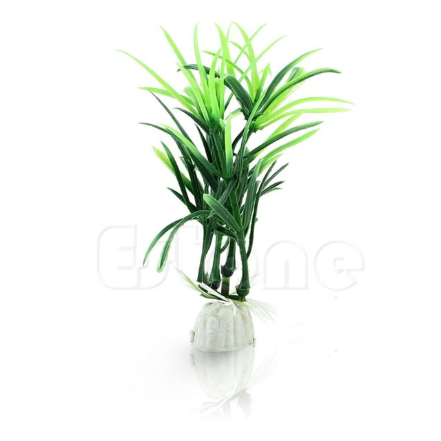 2pc/lot Ornamental Plants Fish Tank short paragraph Lucky Bamboo artificial water
