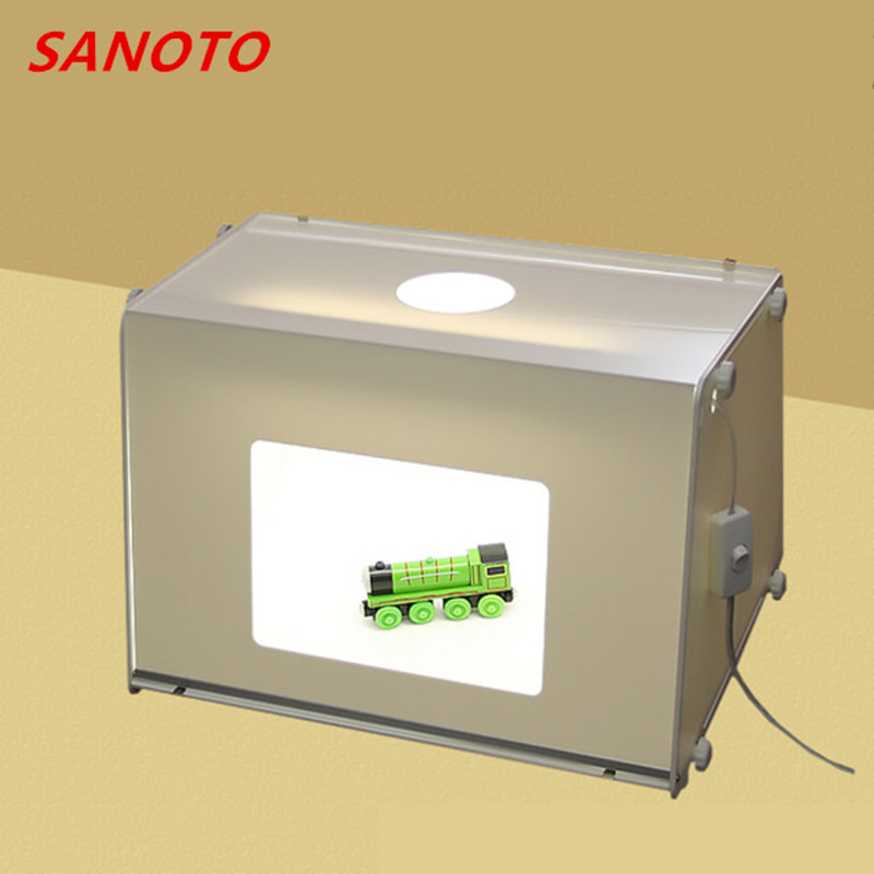 Free Shipping  SANOTO brand Portable Mini Photo Studio Photography Light Box Photo Box MK40 Soft Box For  220/110V high quality portable mini photo studio box photography backdrop built in light photo box