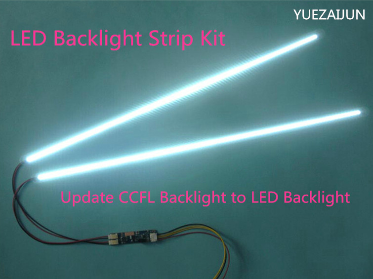20PCS 24 540mm Adjustable brightness led backlight strip kit Update 24inch wide LCD CCFL panel to