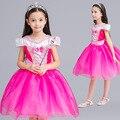 Nuevo Girls Película Cosplay Vestido de Traje de Los Niños de Dibujos Animados de Hadas de Cenicienta Aurora Princesa Vestido Vestido de Fiesta Vestidos de Actuaciones