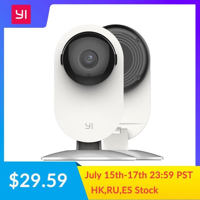 YI 1080p CÁMARA DE interior IP sistema de vigilancia de seguridad con visión nocturna para el hogar/oficina/Bebé/ niñera/Pet Monitor en blanco