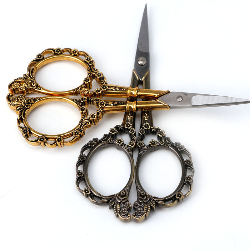 1PC Stainless Steel European Vintage Floral Scissors Sewing Shears DIY Tools  Jy20 19 Dropship