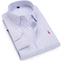Dudalina Shirts Fashion Brand Clothing Mens Long Sleeve Lattice Stripes Shirt 2017 Summer New Slim Fit