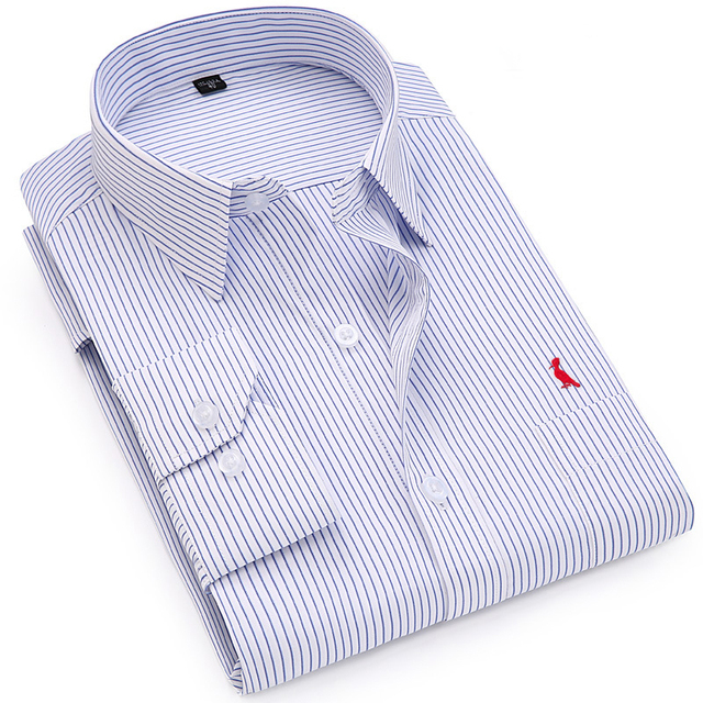 Dudalina Бизнес Рубашки для мальчиков 2017, Новая мода брендовая одежда Мужская Рабочая футболка с длинным рукавом рубашка узкого кроя большой Размеры S-6XL Повседневная рубашка