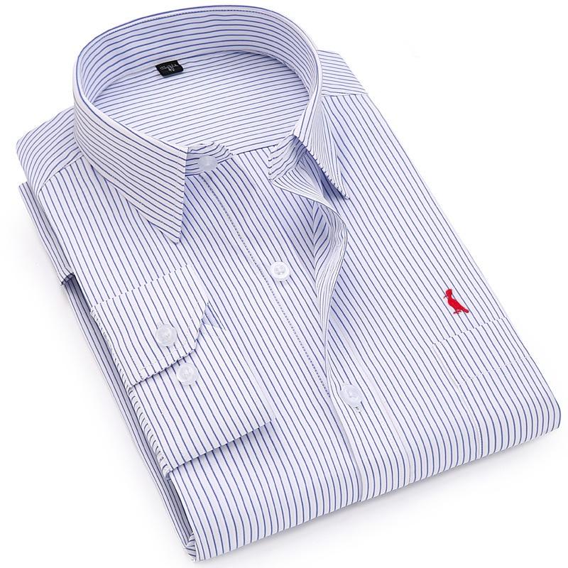 Dudalina Business Shirts 2017 New Fashion Brand Clothing Mens Long Sleeve Work Shirt Slim Fit Shirt Big Size S-6XL Casual Shirt