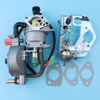 Carburetor Auto Choke Pump Dual Fuel Conversion Kit For Honda GX390 GX340 188F 4.5-5.5KW Generator Engine LPG/CNG/Gasoline Carb