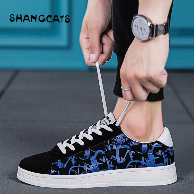 Chaussures Lace Bleu Sneakers Plat blue up Rouge Graffiti Toile Noir Casual Hommes Vulcanisé Black Respirant red Marche De xI5nCpSq