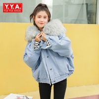 Winter Jacket Women New Parkas Fur Coat Big Collar Hooded Parkas Thick Outerwear Stree Style Female