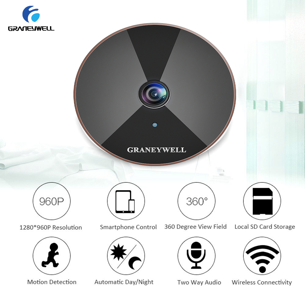 Graneywell IP Camera Indoor Draadloze 960 1.3MP Home Security Wifi Camera Two Way Audio Babyfoon Video Surveillance Camera - 6