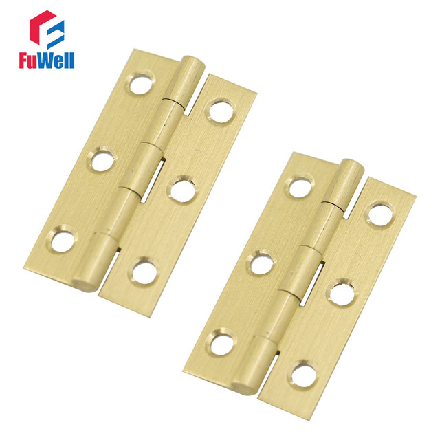10pcs 2inch Door Hinge Furniture Fixtures Kitchen Brass Hinges Bronze  Cabinet Hinges Door Butt