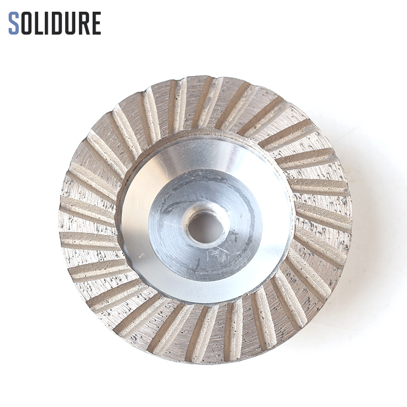 4 Inch Grit 50# Diamond Cup Wheels Turbo Cup Grinding Aluminum Backer Abrasive Tools For Grinding Stone,concrete And Tiles