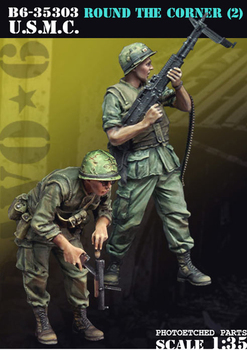 Crazy King1/35 resin soldier model World War II US Marine Corps two GK white model hand 290