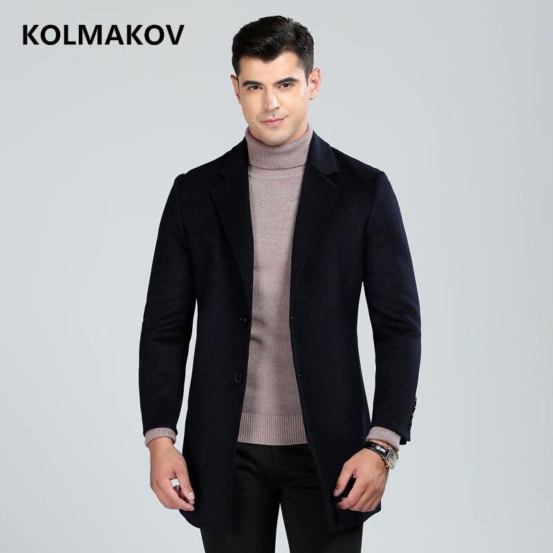2018 Marke Herren Winter Mantel Wolle Dicke Mäntel Jacken Lange Doppel-konfrontiert Männer Woolen Mäntel Kaschmir Outwear Mann Plus Größe M-3xl Hoher Standard In QualitäT Und Hygiene