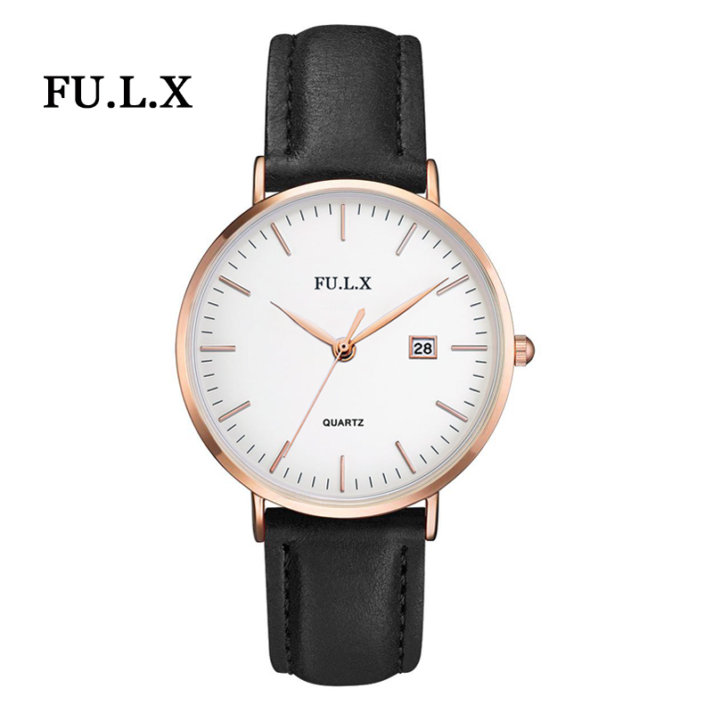 2018 Brand FULX Men Casual Watch Women Fashion Dress Watches 40mm Male Business Quartz Rose Gold Clock Ladies Relogio Masculino bumvor watches women fashion watch 2017 unisex watches rose gold silver lady clock men relogio masculino horloge orologi donna