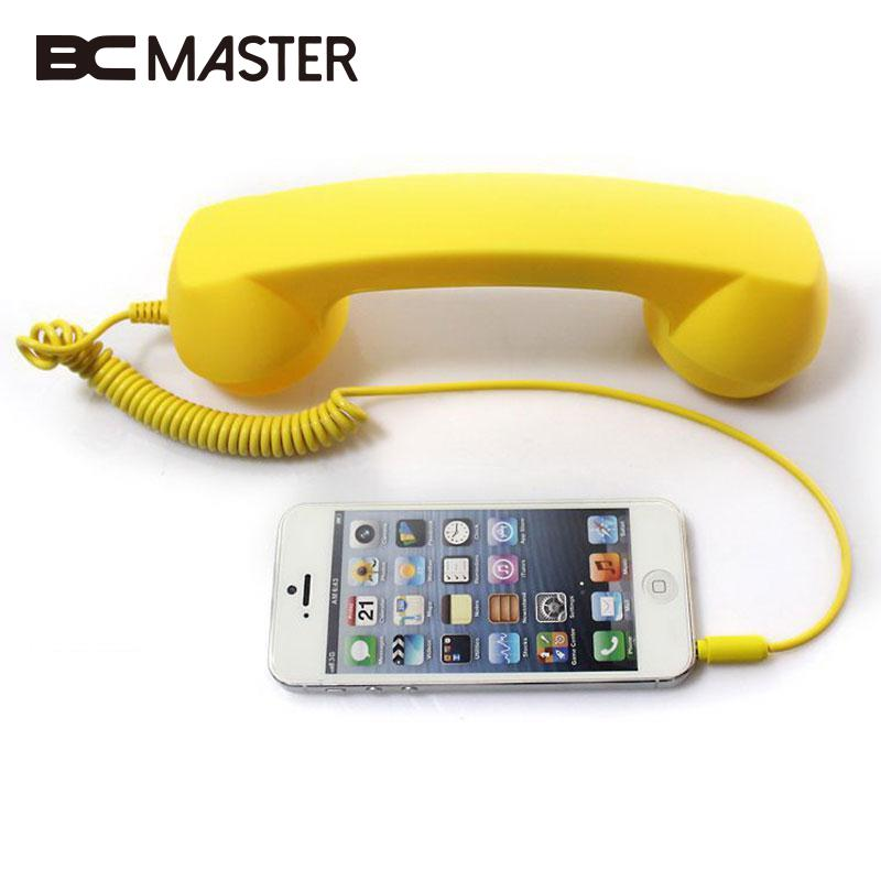 BCMaster For POP Mic Cell Phone Handset Fancy Gift for All Kinds Mobile Phones Tablet PC wireless retro telephone handset and wire radiation proof handset receivers headphones for a mobile phone with comfortable call