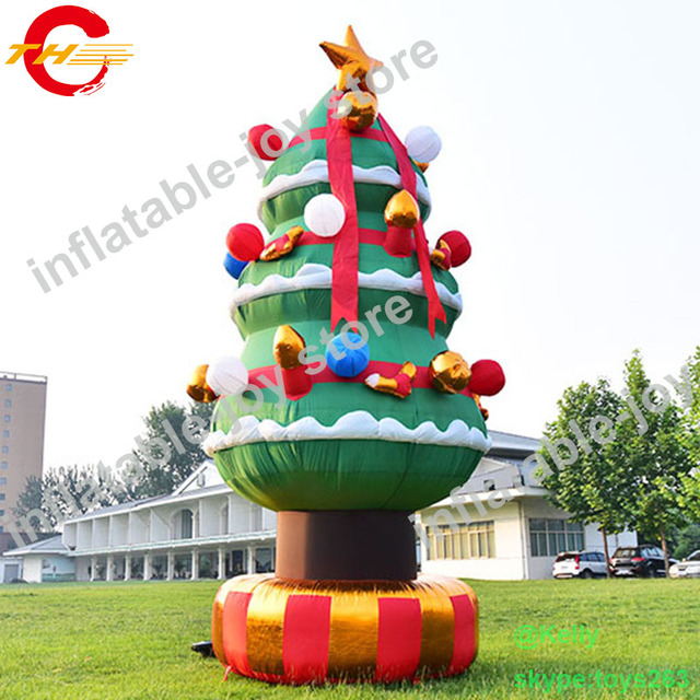 free air shipping 6m 19 6ft high giant inflatable christmas tree for