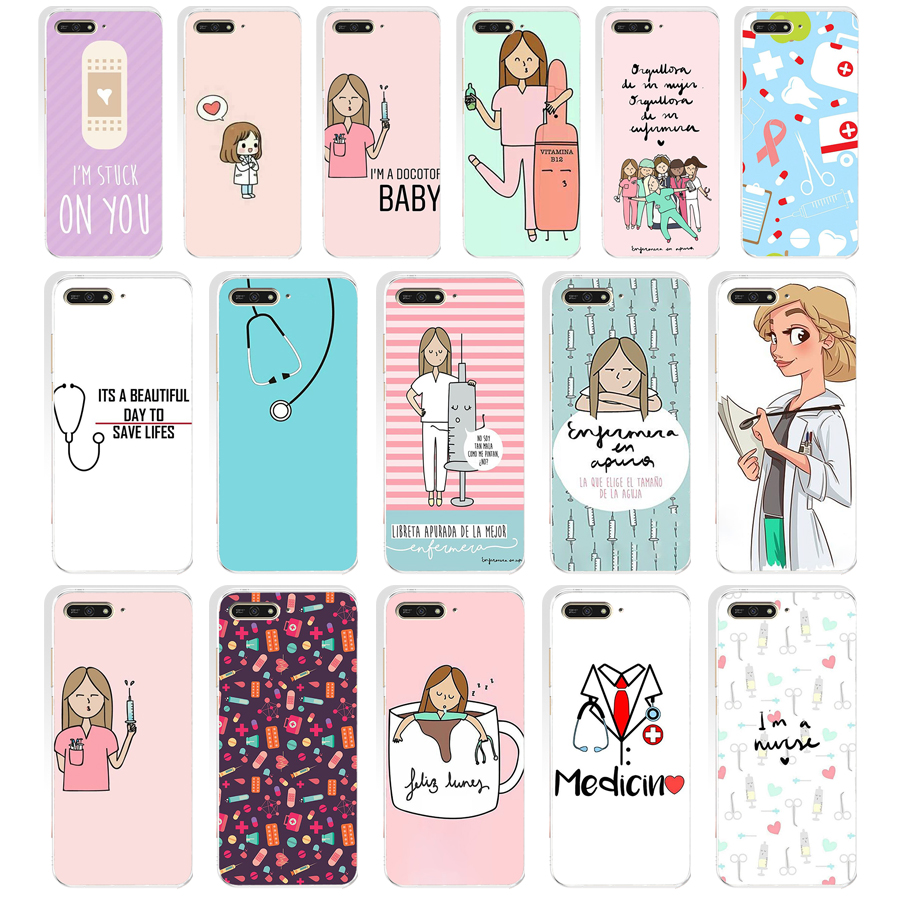 Impartial 98we Cute Cartoon Medicine Doctor Soft Silicone Tpu Cover Case For Huawei Honor 7a Pro 7x 7c Nova 2i 3 3i P Smare Elegant In Smell Half-wrapped Case