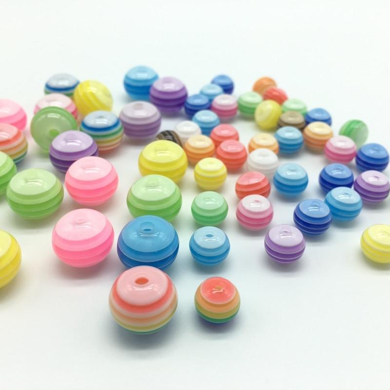 Acrylharz-Kreisregenbogen-Streifen bördelt Halskettenzusätze der - Modeschmuck - Foto 3