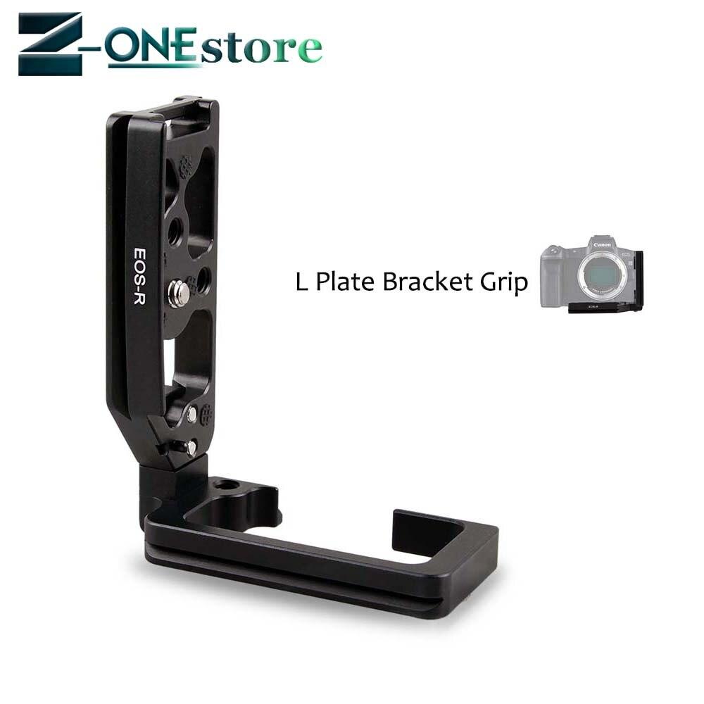 Support de Type L poignée de poignée de plaque de trépied à dégagement rapide Vertical pour Canon EOS R EOSR caméra trépied tête sphérique en forme de L