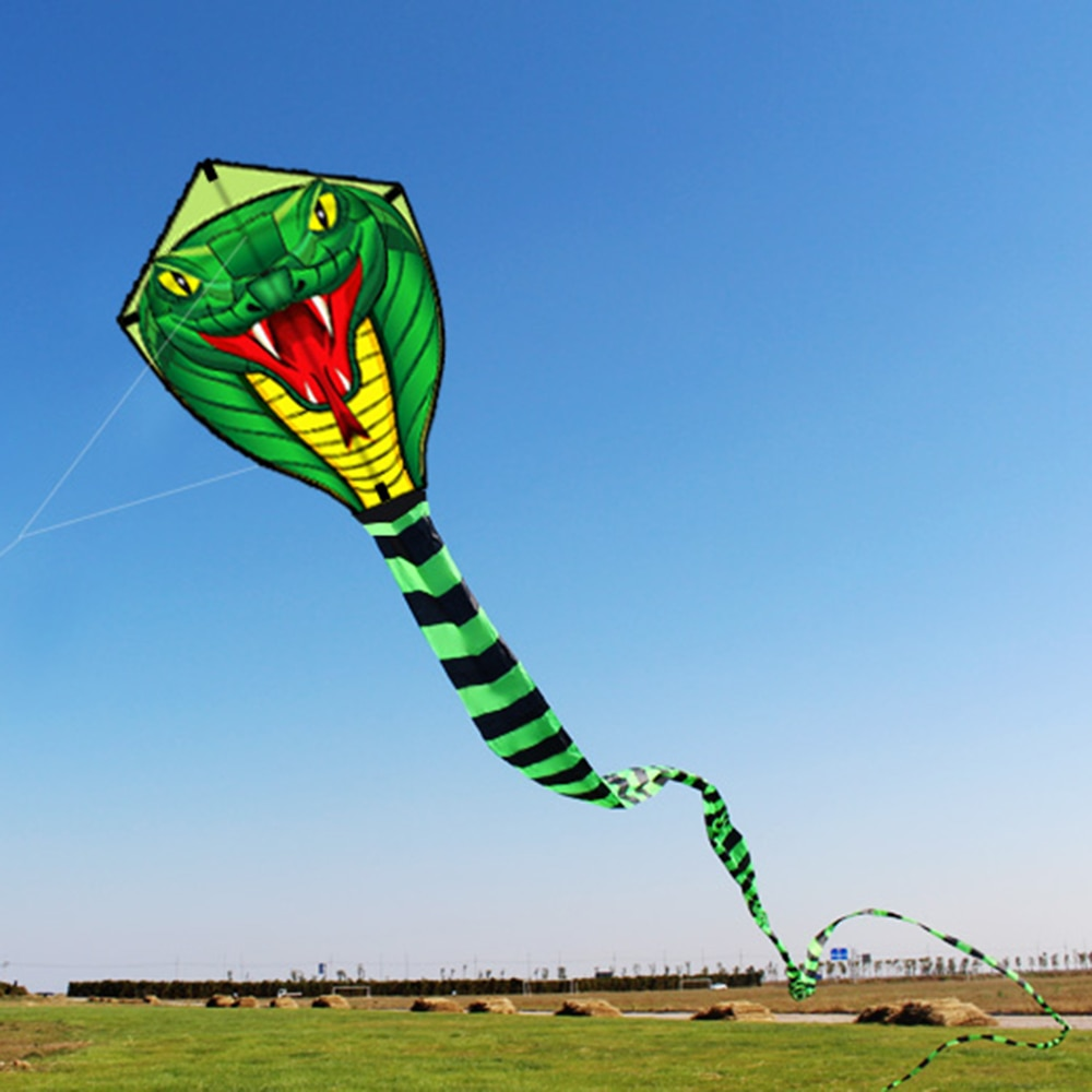 High quality Beach game 8M / 15M Giant Snake Kite Single Line Flying Kite Outdoor Sports Fun Toy with 30M Line Flying toy 2019|Outdoor Tools| |  - title=