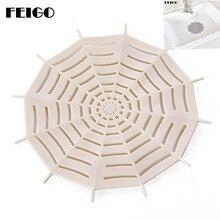 FEIGO Creative Spider Web Drain Rubber Circle Silicone Plug Shower Bathtub Bathroom Leakage-proof Sink Basin Stopper F21