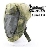 Militar Tático Máscara Completa Rosto Arame De Aço do Metal Máscara cobertura rosto orelhas de Combate militar airsoft Paintball Máscaras