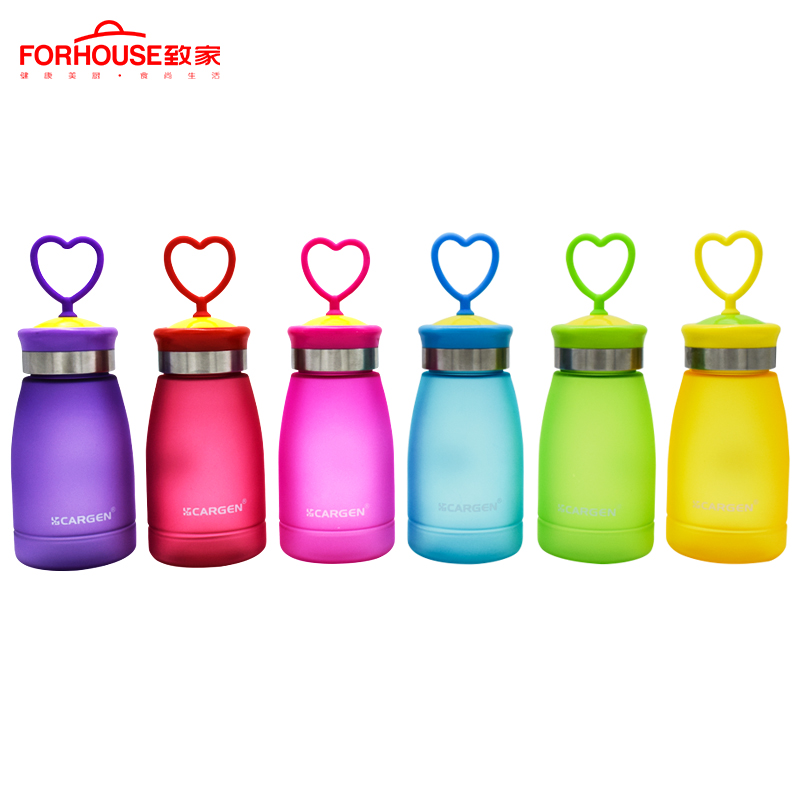 Lovely kids Water Bottle Candy Colors Sport Drinking Bottles With A Rope To Carry Leak-proof Portable for Travel Hiking Running