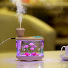 460ML USB Humidifiers with LED Night Light Fish Tank Air Humidifier Diffuser Mist Maker Atomizer Best Gift 4 Colors