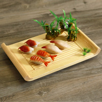 Japan Style Bamboo Sushi Plate Scroll Type Tableware Food Container Board Natural Color Japanese Cuisine Food