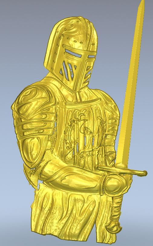 3d model relief  for cnc in STL file format knight panno hunting 2 for cnc in stl file format 3d model relief