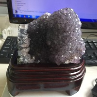 1.33kg Natural Stone and Minerals Clear Amethyst Geode Specimen Amazing Rough Healing Reiki Crystal Home Decoration