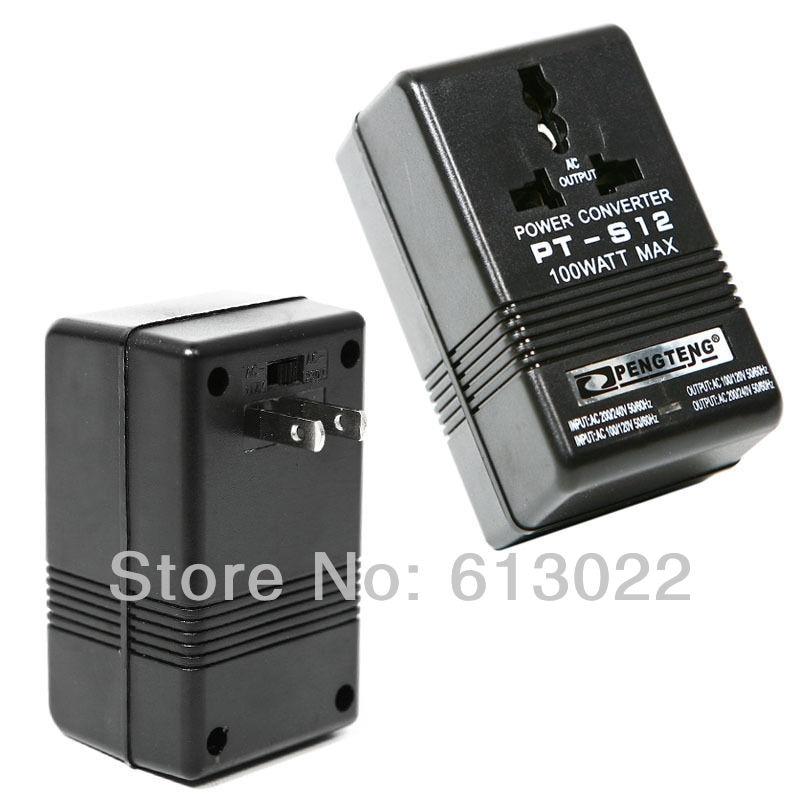 NEW 100W Dual Channel Voltage Converter Voltage Power Converter 220V 110V 110V 220V Travel Transformer