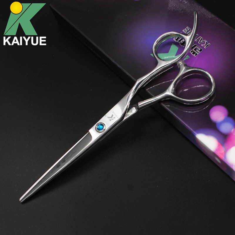6 Sapphire Inlay Japan Stainless Steel Cutting Scissors Hairdressing Scissors With Box S ...